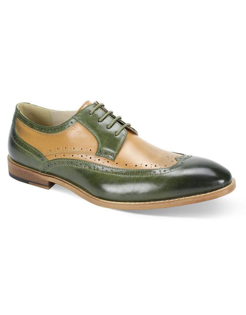 Antonio Cerrelli Antonio Cerrelli 6796 Dress Shoe - Olive/Latte