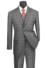 Vinci Vinci Vested Suit - V2RW12 Gray