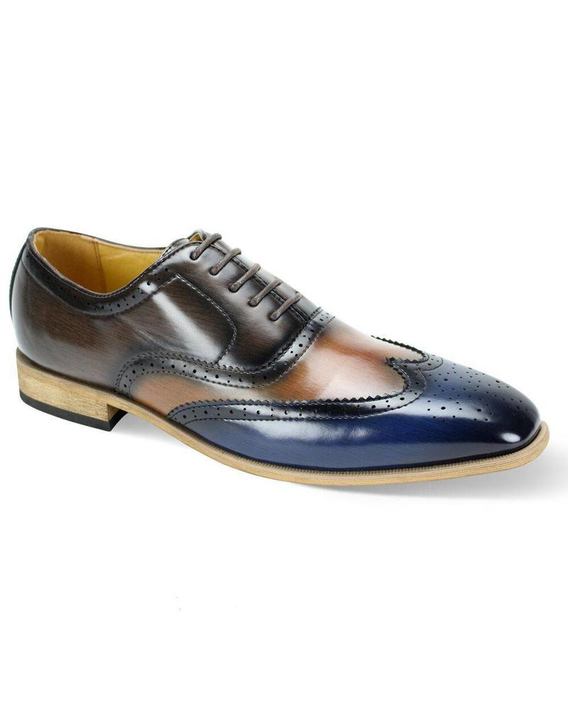 Antonio Cerrelli Antonio Cerrelli 6781 Dress Shoe - Navy/Scotch/Brown