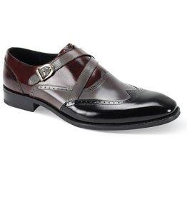 Giovanni Giovanni Felix Dress Shoe - Black/Burgundy