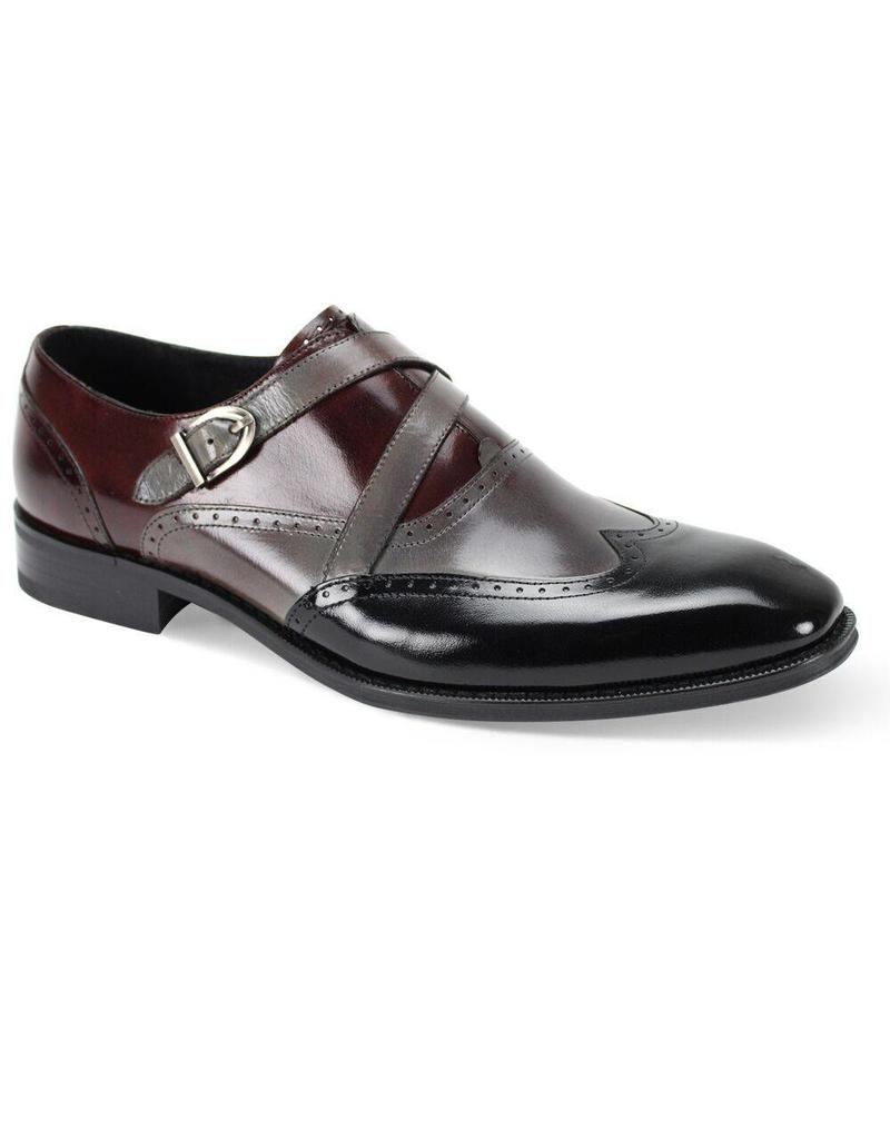 Giovanni Giovanni Felix Dress Shoe - Black/Burgundy