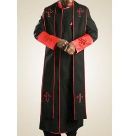Royal Diamond Royal Diamond Robe & Stole - Black/Red