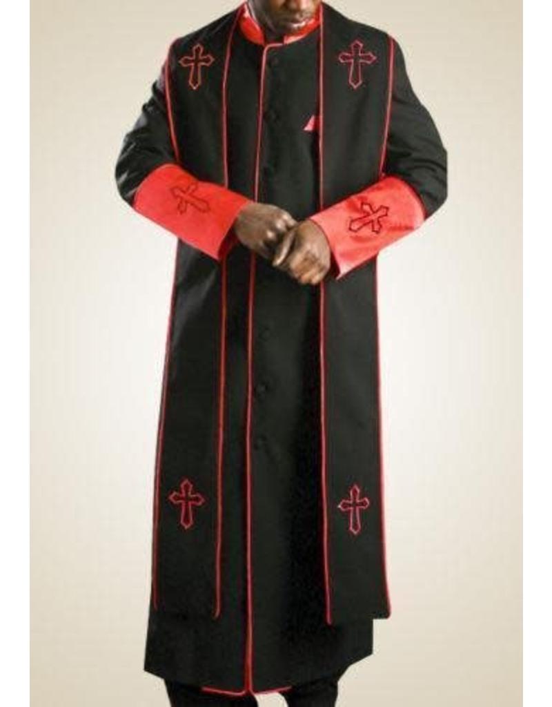 Royal Diamond Royal Diamond Robe & Stole - Black/Red