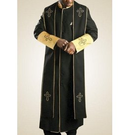Royal Diamond Royal Diamond Robe & Stole - Black/Gold