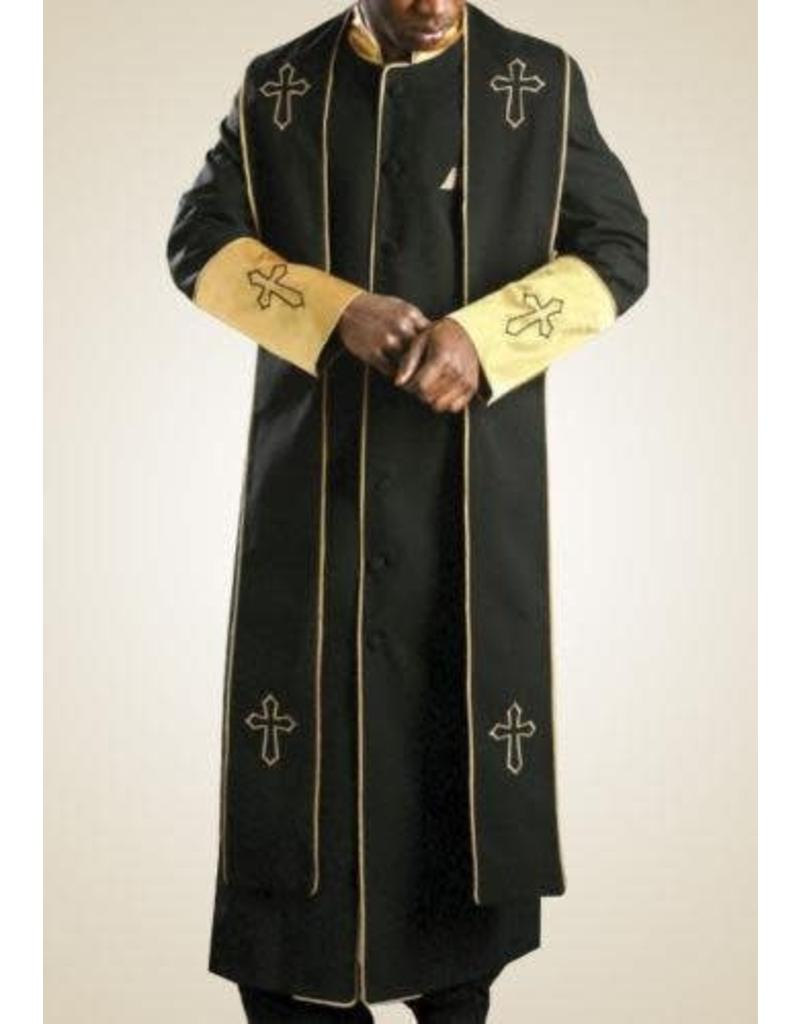 Royal Diamond Royal Diamond Robe & Stole - Black/Gold