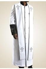 Royal Diamond Royal Diamond Robe & Stole - White/Black