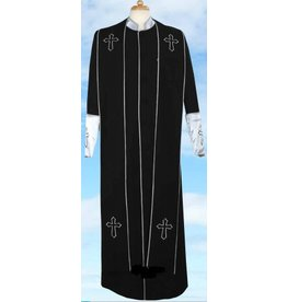 Royal Diamond Royal Diamond Robe & Stole - Black/Silver