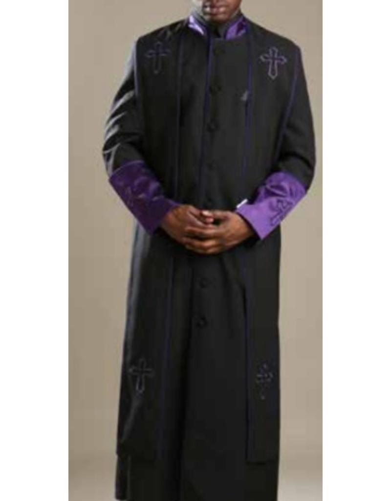 Royal Diamond Royal Diamond Robe & Stole - Black/Purple