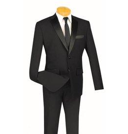 Vinci Vinci Slim Fit Tuxedo - TSLPP Black