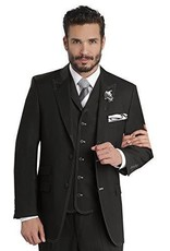 EJ Samuel EJ Samuel Vested Suit - M2688 Black/White