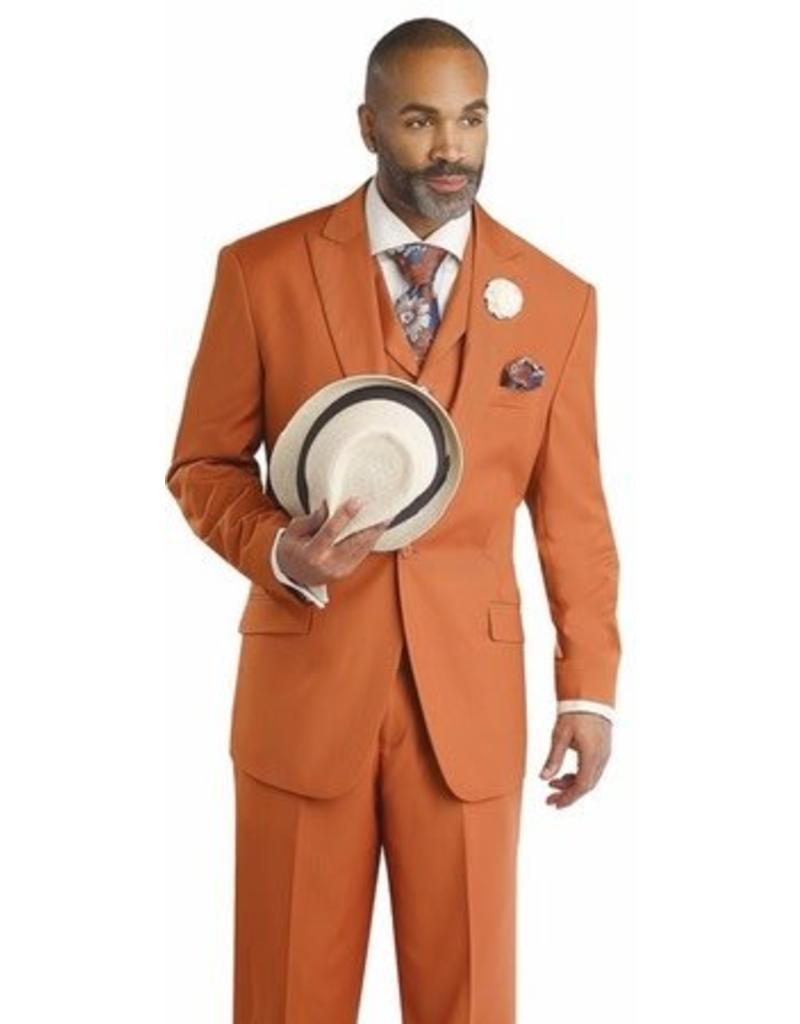 EJ Samuel EJ Samuel Vested Suit - M2683 Rust