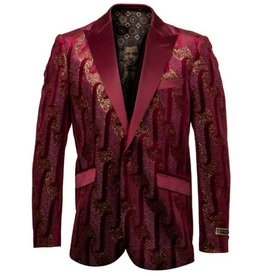 Empire Empire Blazer - ME240H03 Burgundy/Gold