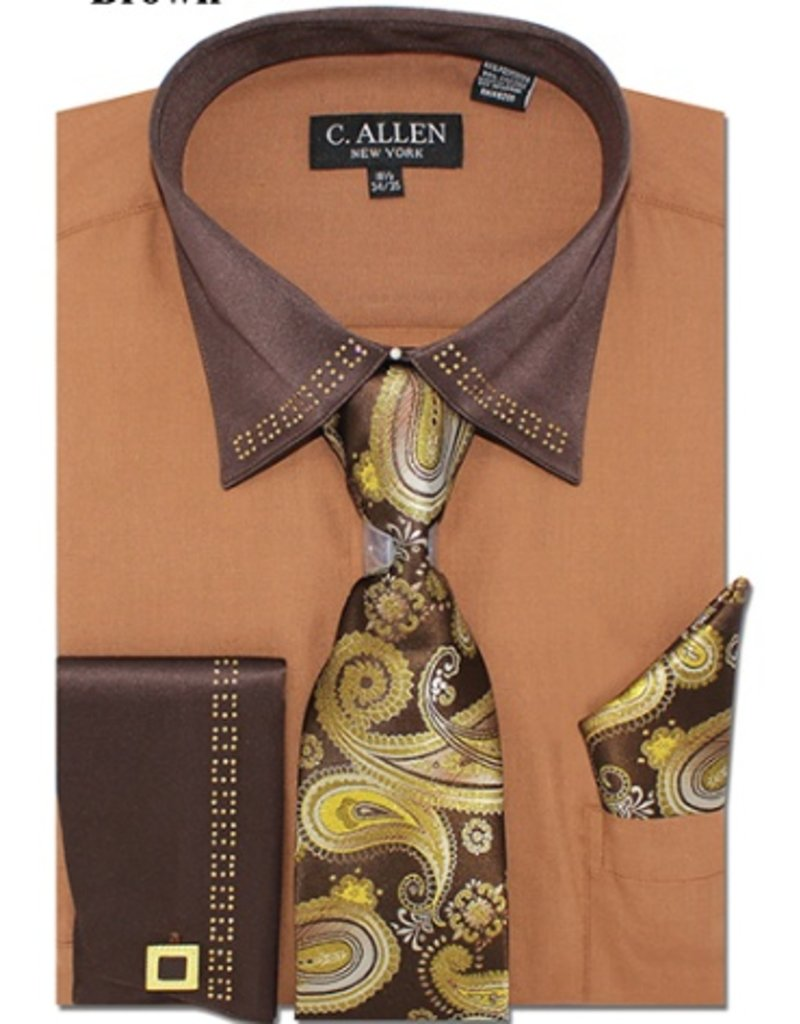 C. Allen C. Allen Shirt Set - JM202 Mocha
