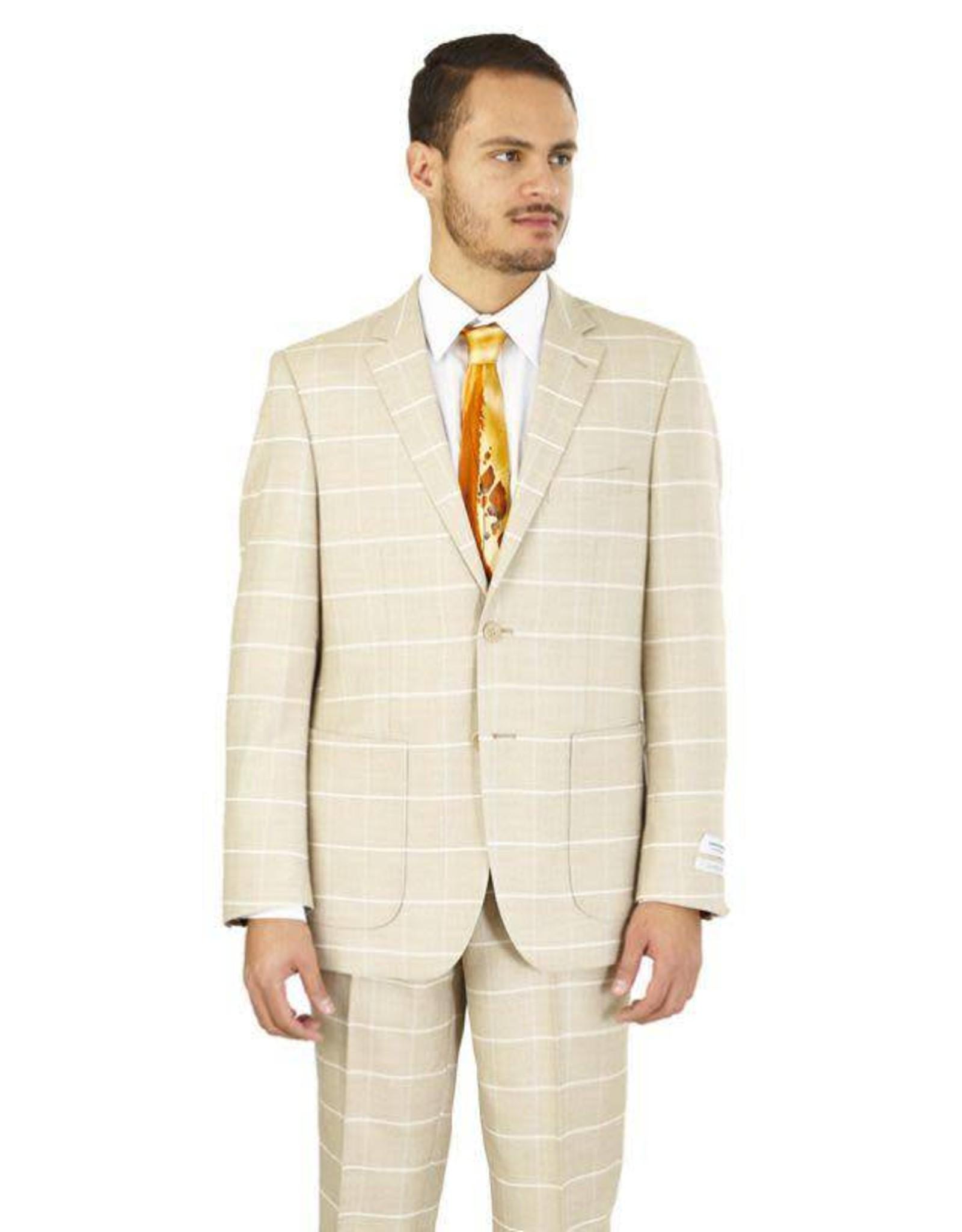 Lorenzo Bruno Lorenzo Bruno Modern Fit Suit - M62CB Wheat
