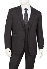 Lorenzo Bruno Lorenzo Bruno Vested Suit - T62BR Charcoal