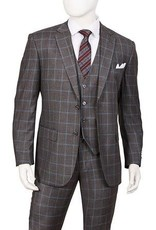Lorenzo Bruno Lorenzo Bruno Vested Suit - T62PD Gray
