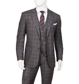 Lorenzo Bruno Lorenzo Bruno Vested Suit - T62PD Gray