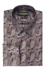 Inserch Inserch Paisley Jacquard Shirt - 2265 Lt. Brown