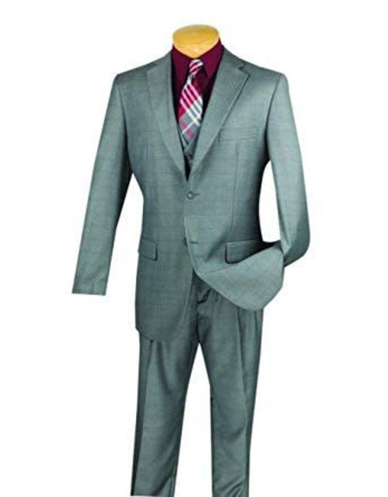 Vinci Vinci Vested Suit - V2RW11 Gray