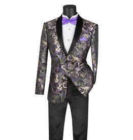 Vinci Vinci Slim Fit Blazer - BSF9 Purple