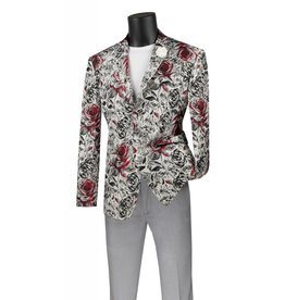 Vinci Vinci Slim Fit Blazer - BSF8 Red