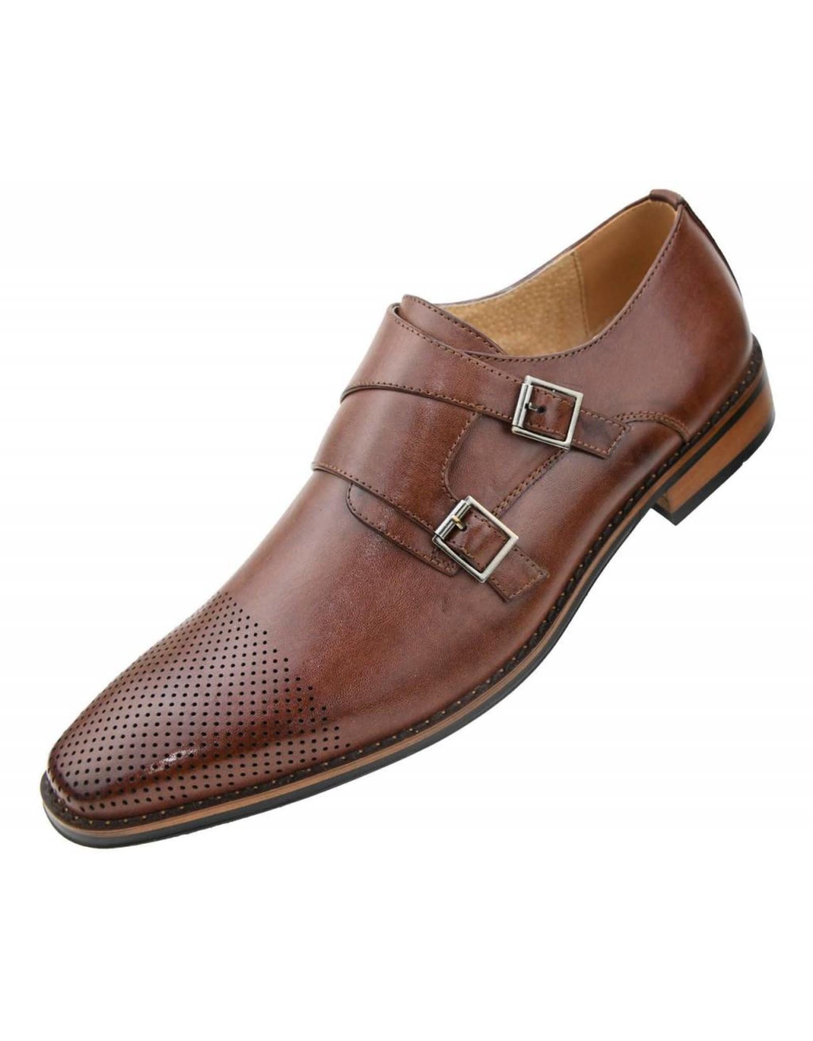 Amali Amali Deming Dress Shoe - Cognac