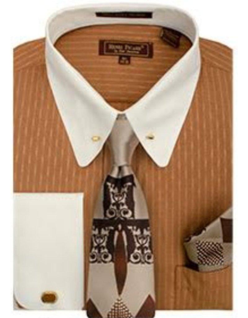 Henri Picard Henri Picard Shirt Set FC166 Brown