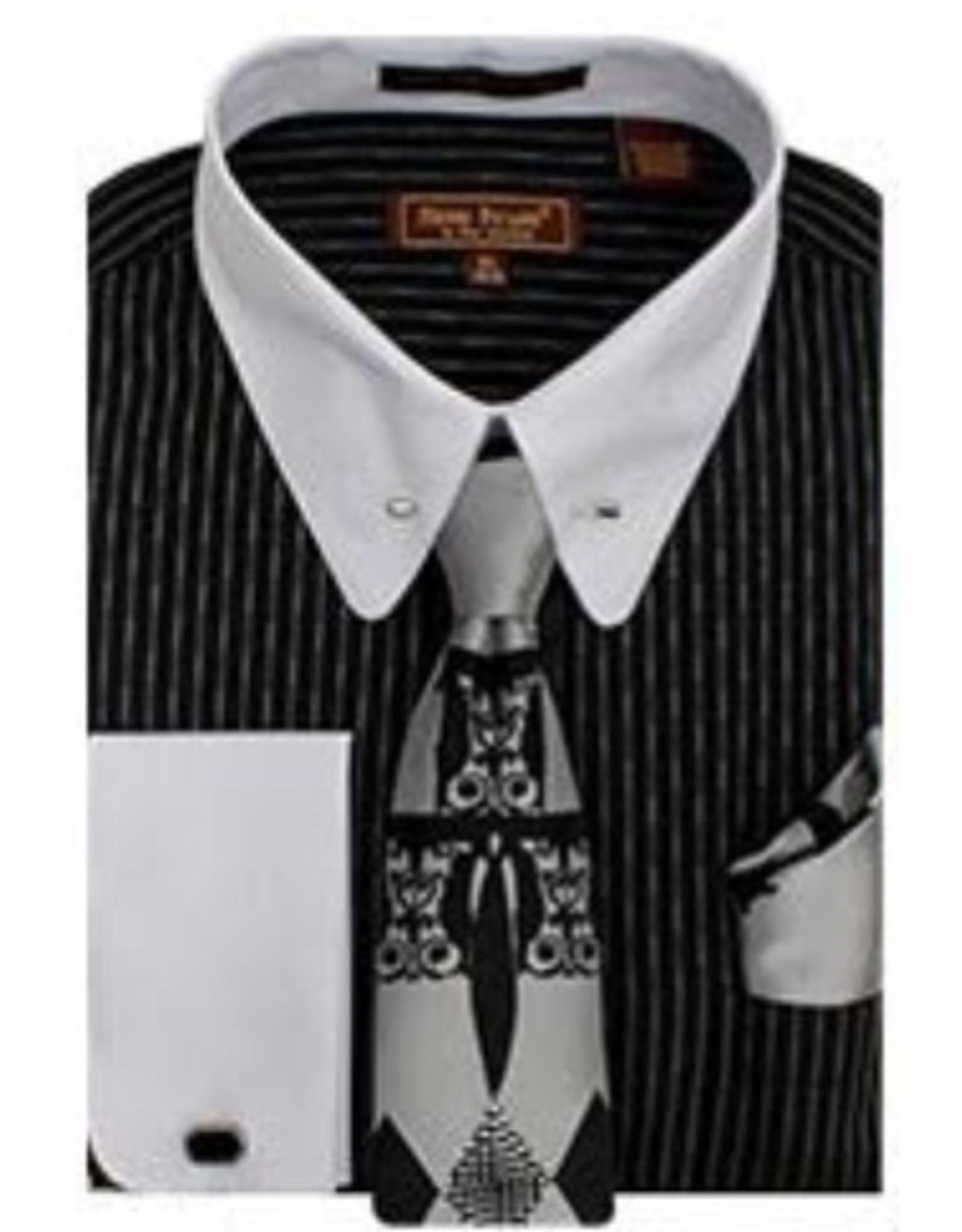 Henri Picard Henri Picard Shirt Set FC166 Black