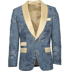 St. Patrick St. Patrick Slim Fit Blazer - SP10 Blue/Tan