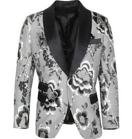 St. Patrick St. Patrick Slim Fit Blazer - SP2 Silver/Black