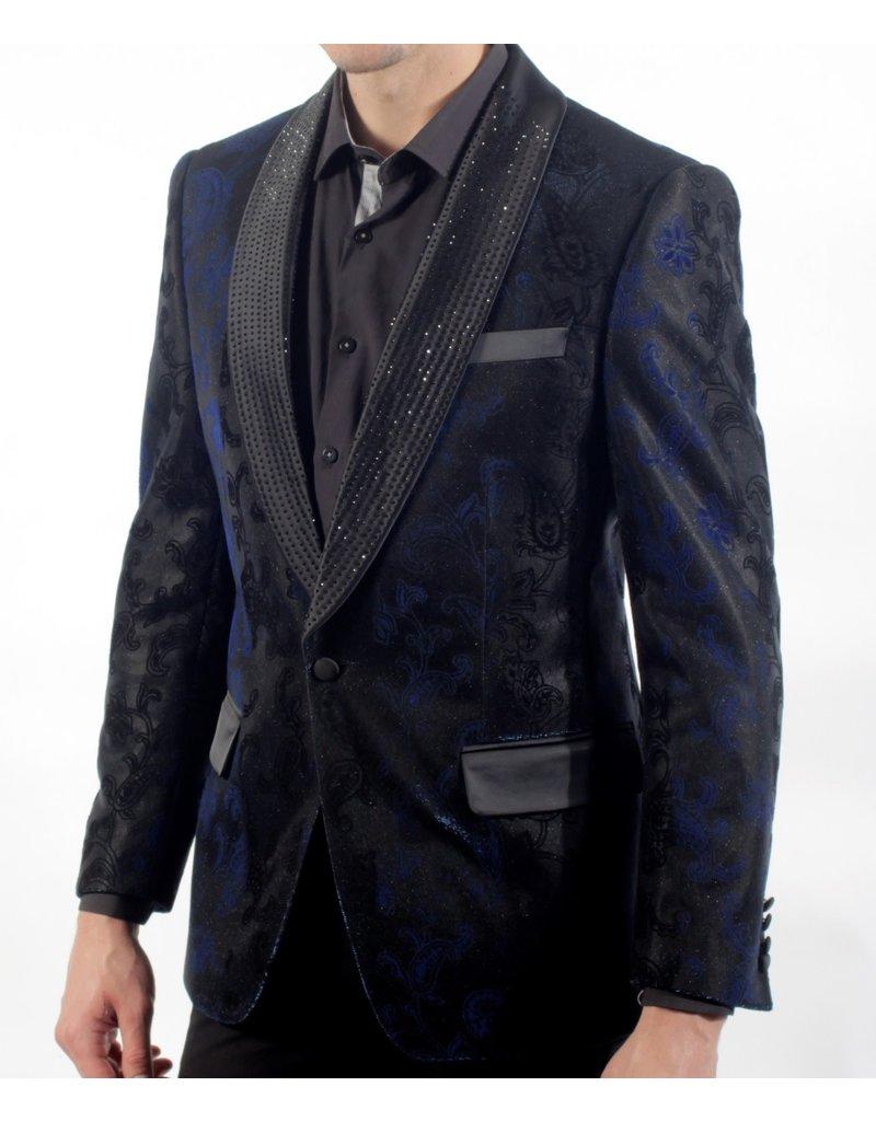Barabas Barabas Slim Fit Blazer - BL3008 Blue
