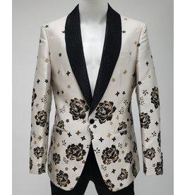 Barabas Barabas Slim Fit Blazer - BL1815 White/Black