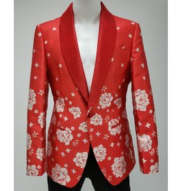 Barabas Barabas Slim Fit Blazer - BL1815 Red/White