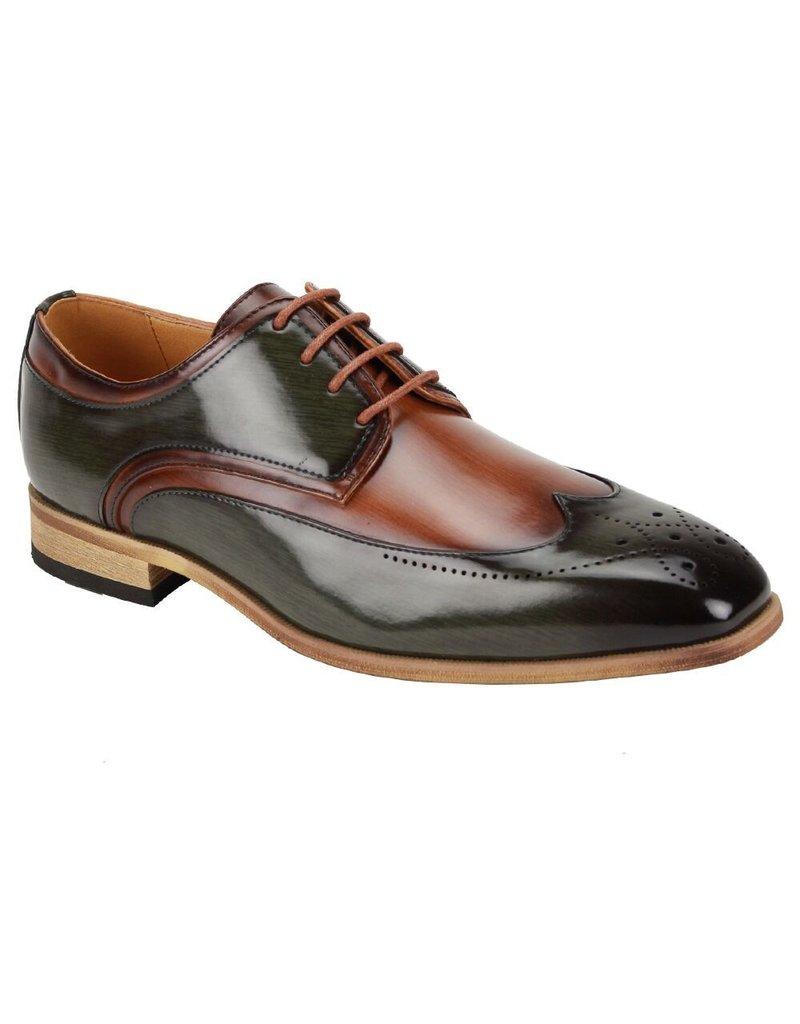 Antonio Cerrelli Antonio Cerrelli 6809 Dress Shoe - Olive/Tan