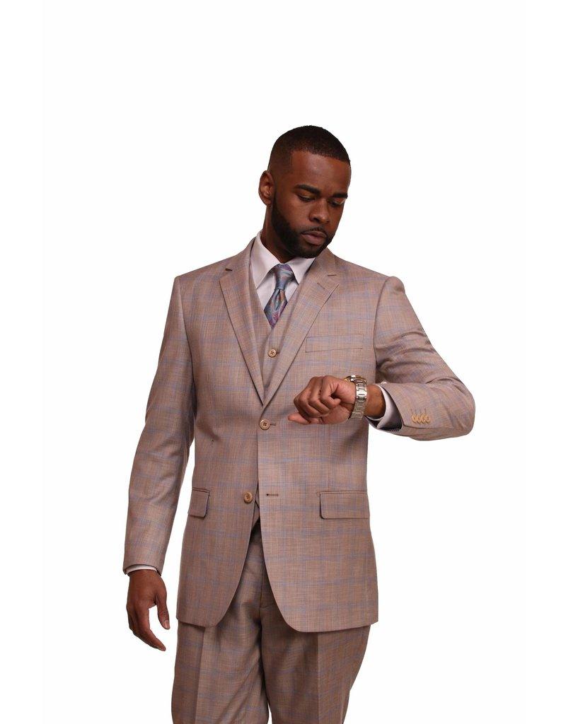Vitali Vitali Vested Suit - M1803 Beige
