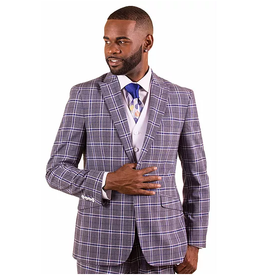 Vitali Vitali Vested Suit - M1810 Gray/White