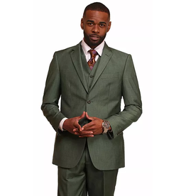 Vitali Vitali Vested Suit - M4110 Green