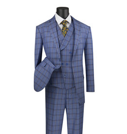 Vinci Vinci Vested Suit - V2RW12 Blue