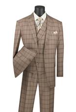 Vinci Vinci Vested Suit - V2RW12 Khaki