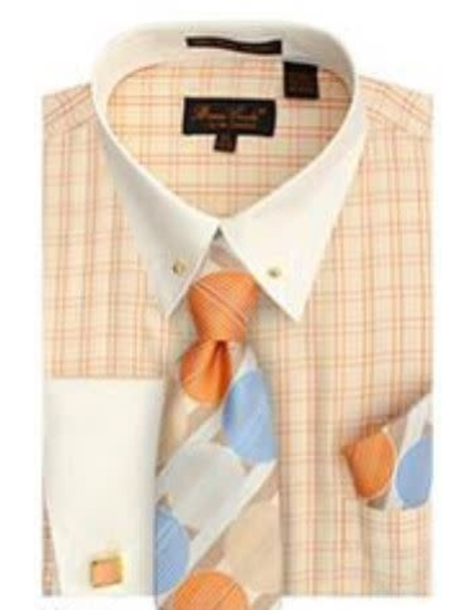 Bruno Conte Bruno Conte Shirt Set CS056 Peach