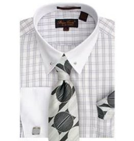 Bruno Conte Bruno Conte Shirt Set CS056 Silver