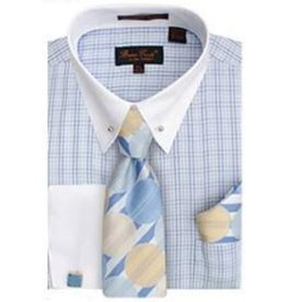 Bruno Conte Bruno Conte Shirt Set CS056 Blue
