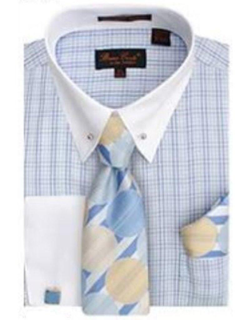 Bruno Conte Bruno Conte Shirt Set CS056 Blue