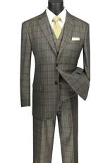 Vinci Vinci Vested Suit - V2RW12 Olive