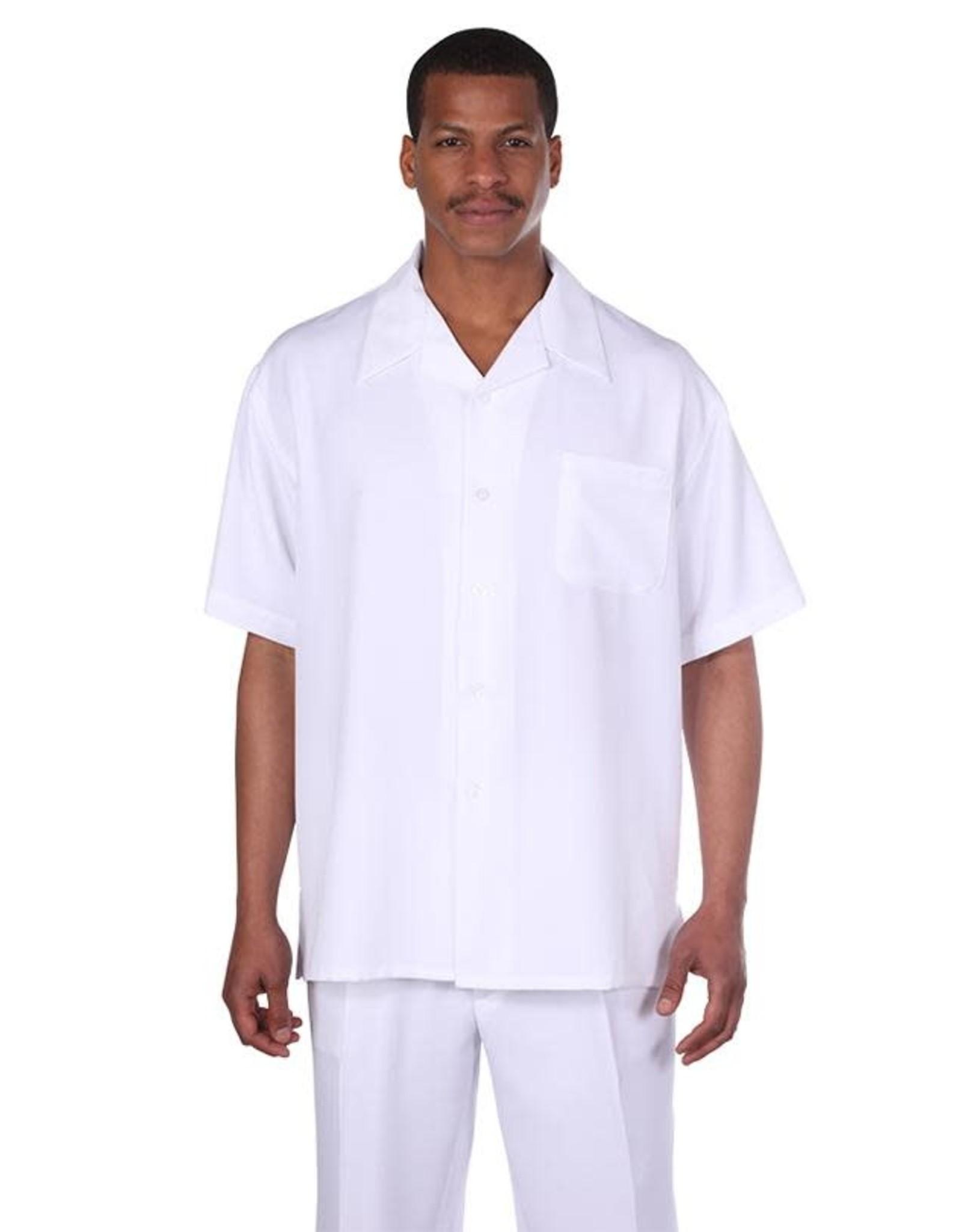 Fortino Landi Fortino Lando Short Sleeve Set - M2954 White
