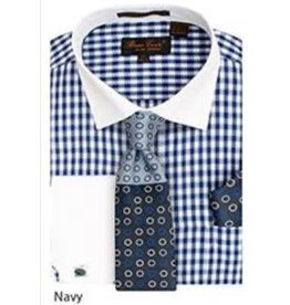 Bruno Conte Bruno Conte Shirt Set CS065 Blue