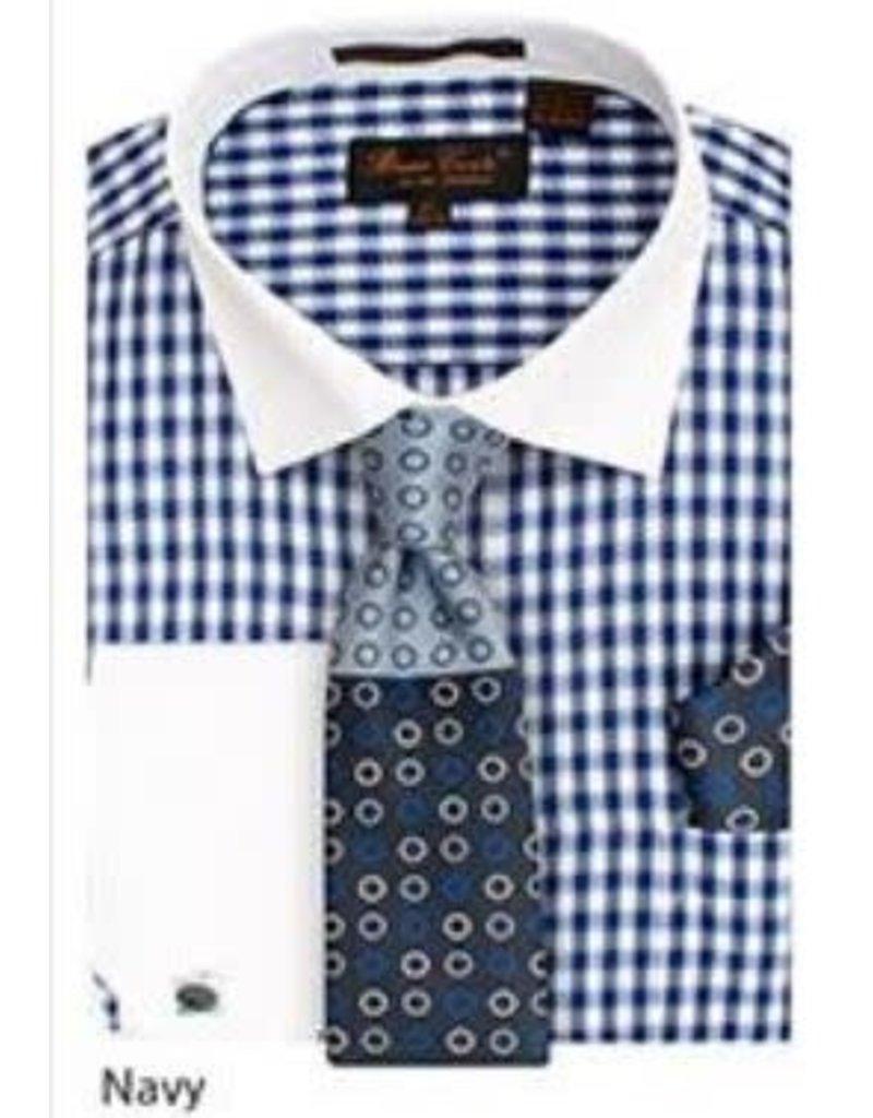 Bruno Conte Bruno Conte Shirt Set CS065 Blue