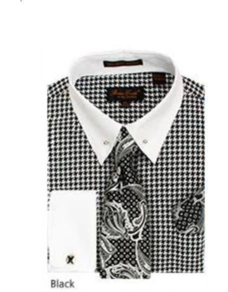 Bruno Conte Bruno Conte Shirt Set CS067 Black