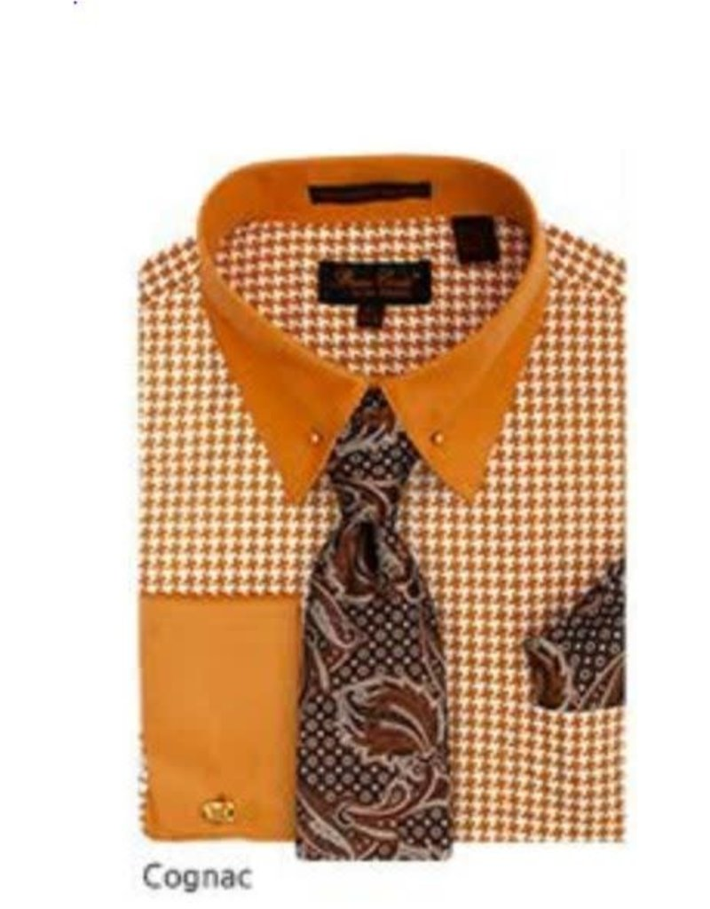 Bruno Conte Bruno Conte Shirt Set CS067 Cognac