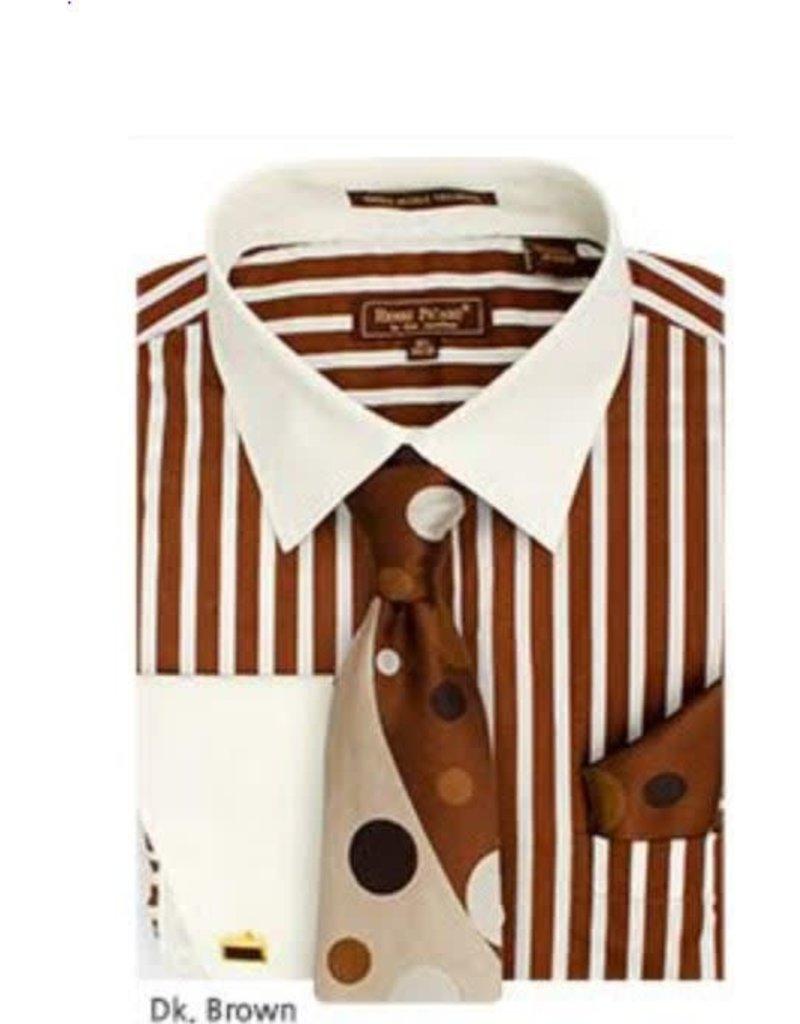 Henri Picard Henri Picard Shirt Set FC168 Brown